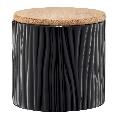 Container din Doldomita cu capac Bamboo 670 ml Tuvo Negru