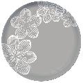 Farfurie desert 20,5 cm sticla gri Dream Flower