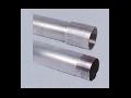 Teava aluminiu filetata cu 1 manson filetat, D.ext:50 mm,D.int. 47.4 mm