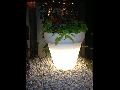 Ghiveci lampa de gradina  DUBAI , 1 bec, dulie E27, Diametru 85cm,H90cm Alb