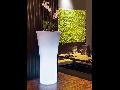 Ghiveci lampa de gradina  RECIFE , 1 bec, dulie E27, Diametru 51cm,H105cm Alb