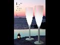 Lampadar pahar imens FLUTE pentru gradina  43x108cm Alb