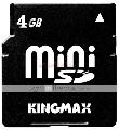Kingmax - Card Mini SD 4GB (Clasa 4)