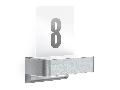 Aplica L 820 LED iHF (argintiu) cu numar de casa si senzor de miscare iHF 160, pentru exterior