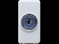 Intrerupator cap scara 1P 250V ac - 10AX - WITH KEY - 1 MODULE - SYSTEM WHITE