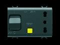 Priza cu protectie - 2P+E 16A P17/P11 - WITH Siguranta automata cu protectie diferentiuala 1P+N 16A - 230Vac - 3 MODULES - BLACK - CHORUS