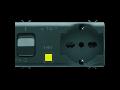 Priza cu protectie - 2P+E 16A P40 - WITH Siguranta automata cu protectie diferentiuala 1P+N 16A - 230Vac - 4 MODULES - BLACK - CHORUS