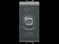 COAXIAL TV/SAT Priza, CLASS A SHIELDING - FEMALE F CONNECTOR - FEEDTHROUGH 14 dB - 1 MODULE - BLACK - CHORUS
