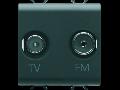 Priza TV-FM - DIRECT - 2 MODULES - BLACK - CHORUS