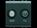 Priza TV-SAT - DIRECT - 2 MODULES - BLACK - CHORUS