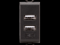 DOUBLE USB POWER SUPPLY - 100-240V ac 50/60Hz - BLACK - CHORUS