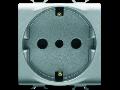 ITALIAN/GERMAN STANDARD Priza 250V ac - 2P+E 16A - P30 - 2 MODULES - TITANIUM - CHORUS