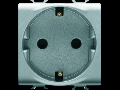 GERMAN STANDARD Priza 250V ac - FRONT TIGHTENING TERMINALS - 2P+E 16A - 2 MODULES - TITANIUM - CHORUS