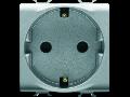 GERMAN STANDARD Priza 250V ac - QUICK WIRING TERMINALS - 2P+E 16A - 2 MODULES - TITANIUM - CHORUS