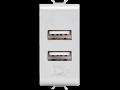 DOUBLE USB POWER SUPPLY - 100-240V ac 50/60Hz - TITANIUM - CHORUS
