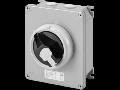 Selector rotativ - HP- montaj aparent - COMMAND - METAL BOX - 25A 2P - blocabil BLACK KNOB - IP66