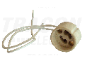 Soclu din portelan pentru bec halogen MR230 (230V) TGU-10 230V, 50Hz, max.50W, GU10