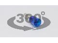 Tub de capat izolat (PA6.6),Cu electrolitic stanat, albastru E117 2,5mm2, L=19,2mm