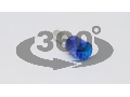 Tub de capat izolat (PA6.6),Cu electrolitic stanat, albastru E118 2,5mm2, L=25,2mm