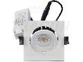 Corp de iluminat LED incastrat, patrat, reglabil DLNCOBD5W 230 V, 50Hz, 5W, 4000K, 510lm, 60, IP65, EEI=A+