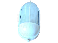 Corp iluminat metalic protejat,oval,alb, acoperit vertical TLH-04FFW 230V, 50Hz, E27, max.60W, IP44, EEI=A++,A+,A,B,C,D,E