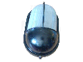 Corp iluminat metalic protejat,oval,negru, acoperit vertical TLH-14FF 230V, 50Hz, E27, max.100W, IP44, EEI=A++,A+,A,B,C,D,E