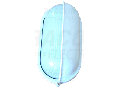 Corp iluminat metalic protejat,oval,alb, acoperit vertical TLH-14FFW 230V, 50Hz, E27, max.100W, IP44, EEI=A++,A+,A,B,C,D,E