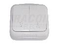 Intrerupator pentru comanda jaluzele, pe tencuiala(pt.tapet) TTK-07 10AX/250VAC, IP20 (2�N101)