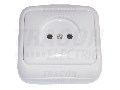 Priza pe tencuiala fara protectie (pentru tapet) TTK-13 16A/250VAC, IP20