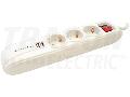 Prelungitor cu 3 prize si intrerupator, alb,2 prize USB HK3-USB 3×SCHUKO,16A/250VAC,3680W, 1,4m, 3×1,5mm2, H05VV-F, USB:2.1A