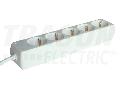 Prelungitor normal cu mai multe prize, alb H5-5M 5�SCHUKO, 5m, max.16A, 250VAC, 3680W, 3x1,5mm2, H05VV-F