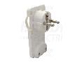 Fisa plata alba, care se poate masca TCSDR 250VAC, max.10/16A (DUAL Schuko/French)