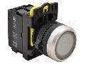 Buton cu semnalizare luminoasa, alb NYG3-LW 1×NO, 5A/230V AC-15, IP65, LED 230V AC/DC