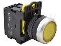Buton cu semnalizare luminoasa, galben NYG3-LY 1×NO, 5A/230V AC-15, IP65, LED 230V AC/DC