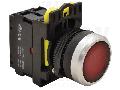 Buton cu semnalizare luminoasa, rosu NYG3-LR 1×NC, 5A/230V AC-15, IP65, LED 230V AC/DC