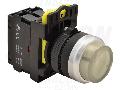 Buton in relief cu semnalizare luminoasa, alb NYG3-HLW 1×NO, 5A/230V AC-15, IP65, LED 230V AC/DC