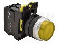 Buton in relief cu semnalizare luminoasa, galben NYG3-HLY 1×NO, 5A/230V AC-15, IP65, LED 230V AC/DC