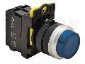 Buton in relief cu semnalizare luminoasa, albastru NYG3-HLB 1×NO, 5A/230V AC-15, IP65, LED 230V AC/DC