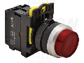 Buton in relief cu semnalizare luminoasa, rosu NYG3-HLR 1×NC, 5A/230V AC-15, IP65, LED 230V AC/DC