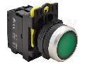 Comutator cu semn. luminoasa,verde NYK3-LG 1×NO, 5A/230V AC-15, IP65, LED 230V AC/DC