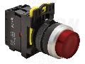 Comutator in relief, semn.luminoasa, rosu NYK3-HLR 1×NC, 5A/230V AC-15, IP42, LED 230V AC/DC