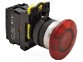 Buton tip ciuperca, rosu NYG3-MLR 1×NC, 5A/230V AC-15, 40mm, IP65, LED 230V AC/DC