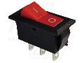 Comutator pentru aparate, rosu TES-22 16(6)A, 250V AC