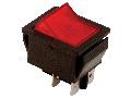 Intrerupator pentru aparate, P-O, 2 poli, rosu-iluminat TES-41 16(6)A, 250V AC