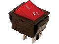 Intrerupator aparate,P-O, 2 poli,rosu-iluminat,(marcaj 0-I) TES-42 16(6)A, 250V AC