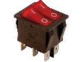 Intrerupator pentru aparate,P-O,2 circuite,rosu,(marcaj 0-I) TES-43 16(6)A, 250V AC