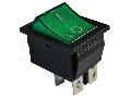 Intrerupator pentru aparate, iluminat, P-O, 2 poli, verde TES-44 16(6)A, 250V AC
