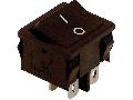 Intrerupator pentru aparate,P-O, 2 poli, negru, (marcaj 0-I) TES-51 16(6)A, 250V AC