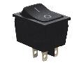 Intrerupator aparate,cu revenire,P-O, 2P, negru,(marcaj 0-I) TES-53-1 16(6)A, 250V AC