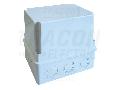 Doza mat. plast. orificii prestantate, cu capac, gri MD81212 80�120�120mm, IP55